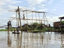 Lago myanmar Inle (Birmania) Fotografia Stock Libera da Diritti