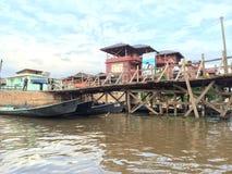 Lago myanmar Inle (Birmania) Fotografia Stock