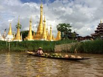 Lago myanmar Inle (Burma) Imagens de Stock