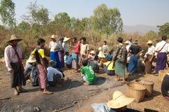 Lago Myanmar Inly, tradizionale Fotografia Stock Libera da Diritti