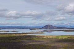 Lago Myvatn Imagen de archivo libre de regalías
