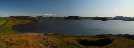 Lago Myvatn, Islândia norte Imagens de Stock