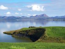 Lago Myvatn, Islanda del Nord fotografia stock libera da diritti