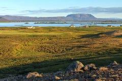 Lago Myvatn, Islandia fotografía de archivo