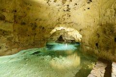 Lago na caverna do lago em Tapolca hungria Fotos de Stock