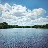 Lago na cidade Foto de Stock