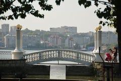 Lago na cidade de Ternopil Fotos de Stock Royalty Free