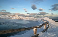 Lago na cimeira Imagem de Stock