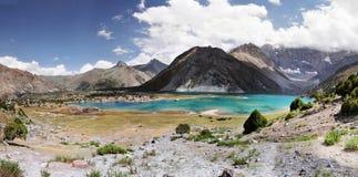 Lago na manhã em Fann Mountains Imagem de Stock