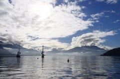 Lago na manhã, france Annec Imagens de Stock