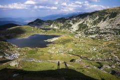 Lago na montanha de Rila Fotos de Stock Royalty Free