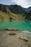 Lago na montanha do robiei foto de stock