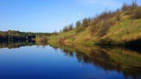 Lago na tarde do verão imagens de stock