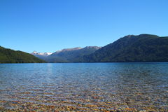 Lago in Nahuel Huapi Park - Patagonia - l'Argentina Fotografia Stock