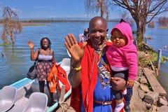 Lago Naivasha kenya Fotografia Stock