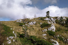 Lago-Naki οροπέδιο, ο Καύκασος Πέτρινη κορυφογραμμή θάλασσας Στοκ Εικόνα
