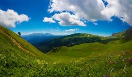 Lago-Naki, o platô ocidental de Cáucaso Fotos de Stock