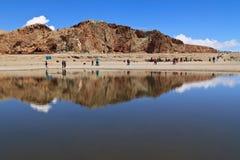 Lago in Nam Co, Tibet Fotografie Stock Libere da Diritti