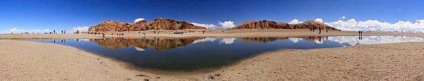 Lago in Nam Co, Tibet Fotografia Stock Libera da Diritti
