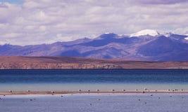 Lago Nam nel Tibet Fotografie Stock Libere da Diritti