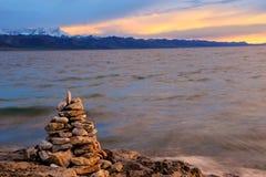 Lago Namtso Fotografie Stock Libere da Diritti