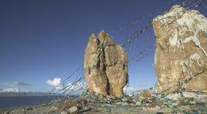 Lago Namtso nel Tibet Fotografie Stock Libere da Diritti