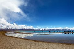 Lago Namtso Immagine Stock