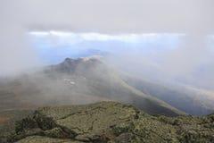 Lago nas nuvens na montagem Washington Imagem de Stock