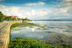 Lago naturale a Phayao in Tailandia fotografie stock libere da diritti