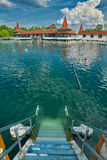 Lago naturale thermal dell'acqua calda di Heviz fotografia stock libera da diritti