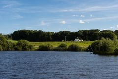 Lago naturale vicino a Billud, Danimarca fotografia stock