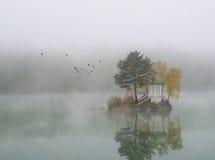 Lago nebbioso immagini stock libere da diritti