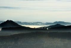Lago nebbioso Constance Fotografie Stock Libere da Diritti