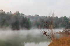 Lago nebbioso Santeetlah Immagine Stock