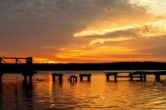 Lago Necko, Polônia, Masuria, podlasie Fotos de Stock