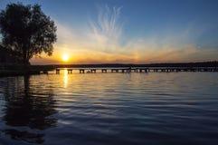 Lago Necko, Polônia, Masuria, podlasie Fotos de Stock Royalty Free