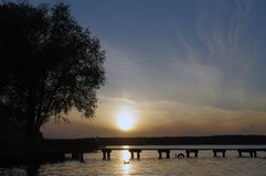 Lago Necko, Polônia, Masuria, podlasie Imagens de Stock Royalty Free