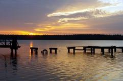 Lago Necko, Polonia, Masuria, podlasie Fotografia Stock