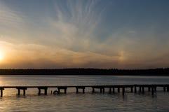 Lago Necko, Polonia, Masuria, podlasie Immagine Stock