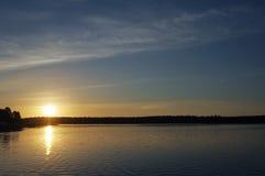 Lago Necko, Polonia, Masuria, podlasie Fotografie Stock