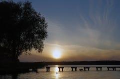 Lago Necko, Polonia, Masuria, podlasie Immagini Stock Libere da Diritti
