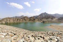 Lago negli altopiani di Ras al Khaimah, Emirati Arabi Uniti Fotografia Stock