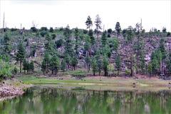 Lago negro canyon, el condado de Navajo, Arizona, Estados Unidos, bosque del Estado de Apache Sitegreaves fotografía de archivo libre de regalías