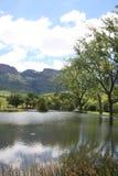 Lago nel Drakensberg Fotografia Stock
