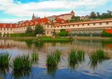 Lago nel giardino di Wallenstein, Praga, repubblica Ceca Fotografia Stock Libera da Diritti