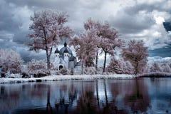 Lago nel infrared Fotografie Stock Libere da Diritti