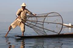 Lago nel Myanmar in primavera Immagini Stock Libere da Diritti