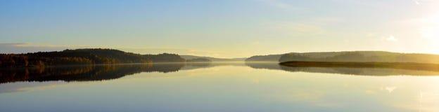 Lago nel oresjon della svezia Fotografia Stock