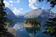 Lago nel paese di Kananaskis - Alberta - Canada immagine stock