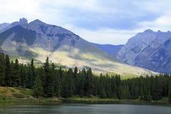 Lago nel paese di Kananaskis - Alberta - Canada Immagini Stock